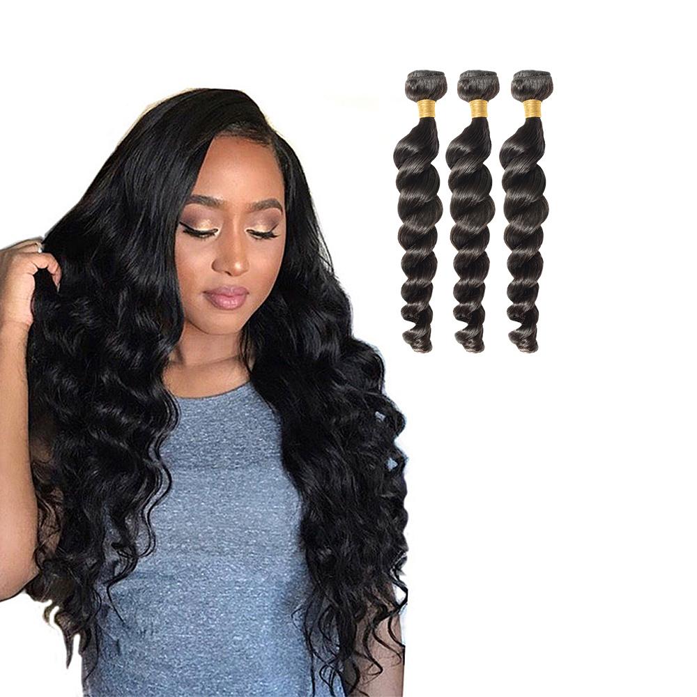 3 Bundles Loose Wavy 6a Virgin Brazilian Hair 300g