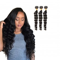 3 Bundles Loose Wavy 6A Virgin Brazilian Hair 300g