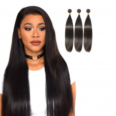 3 Bundles Straight 6A Virgin Brazilian Hair 300g