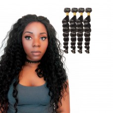 4 Bundles Loose Wavy 6A Virgin Brazilian Hair 400g