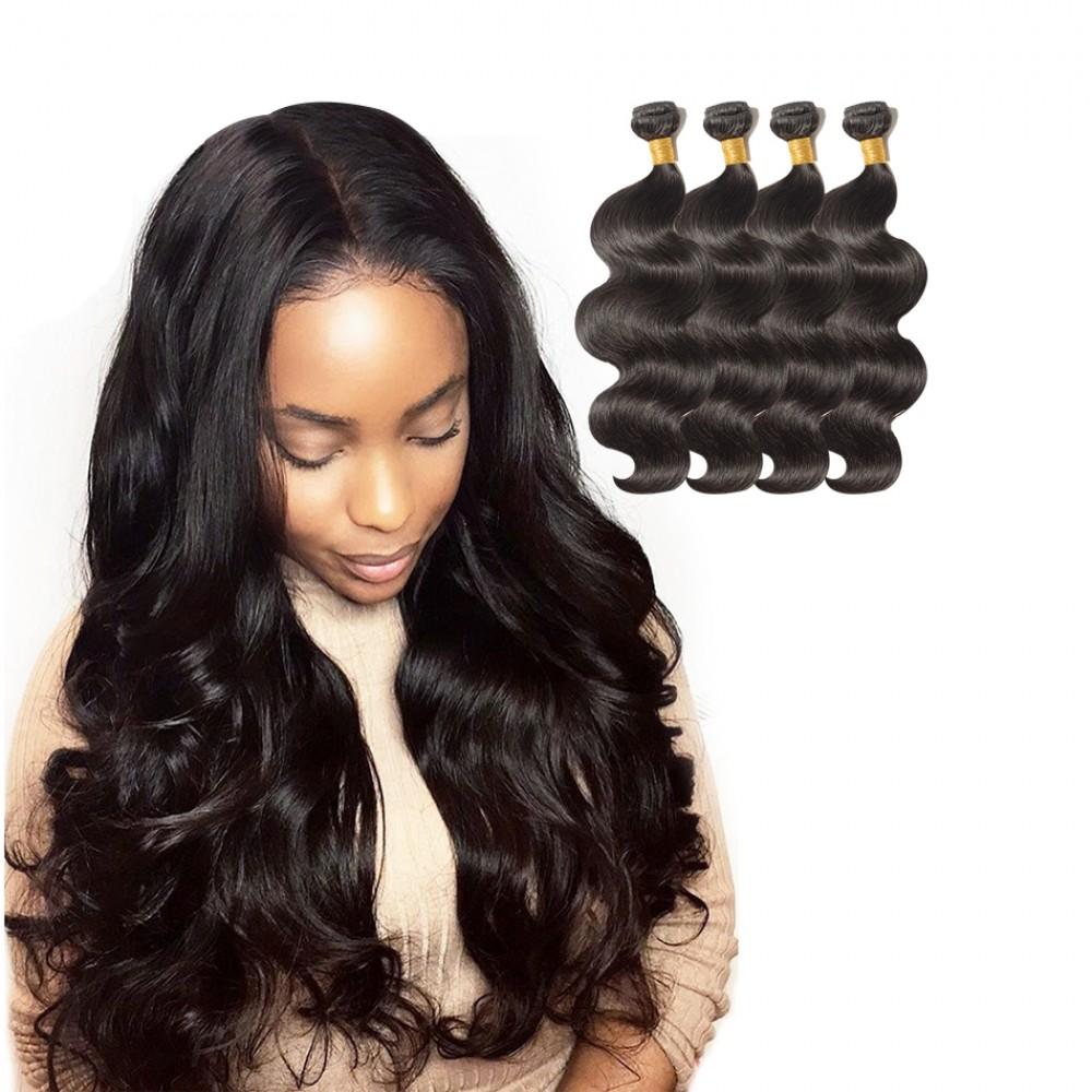 100 human hair cheap hair extensions by s noilite 4 bundles body wavy 6a virgin brazilian hair 400g pmusecretfo Gallery