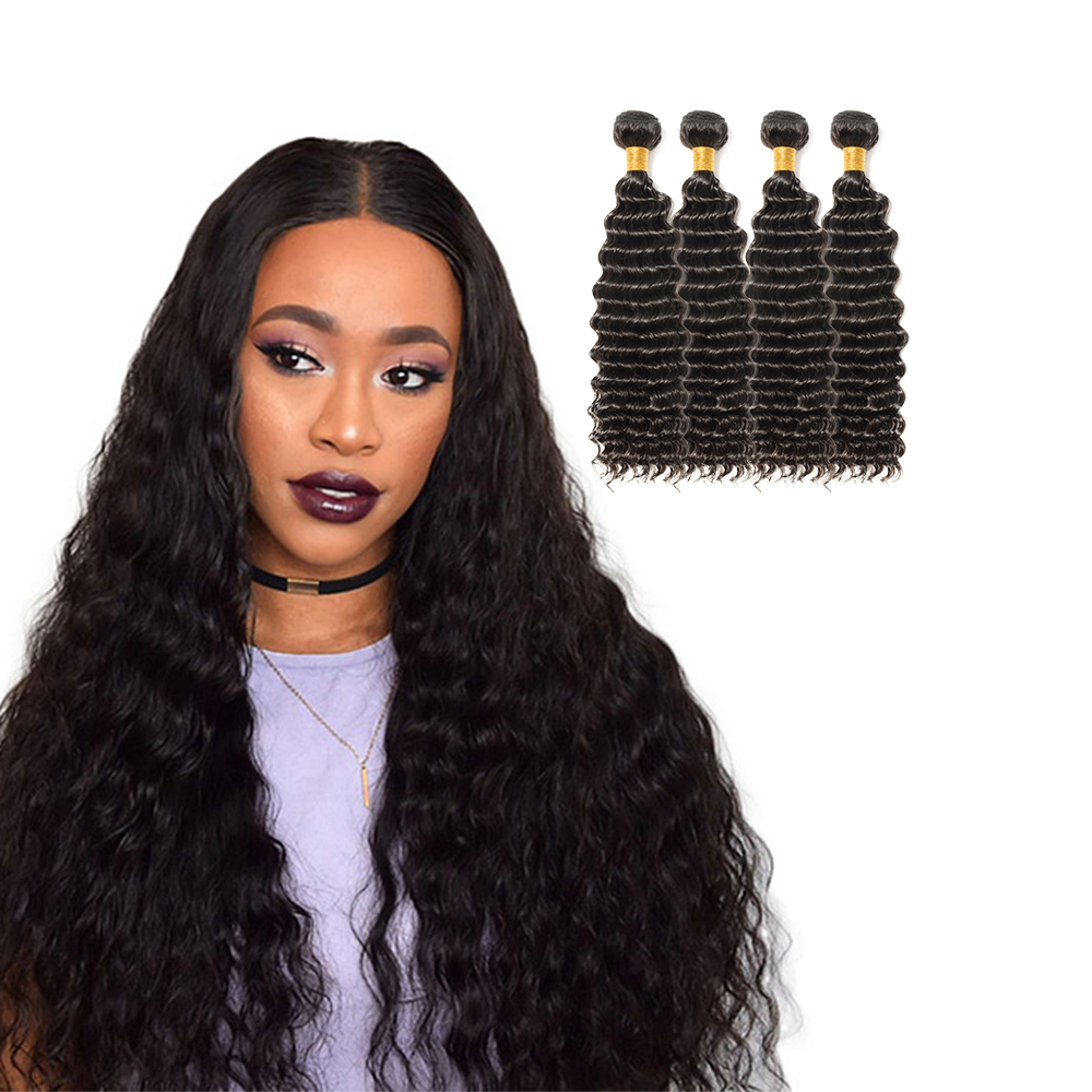 4 Bundles Deep Curly 6a Virgin Brazilian Hair 400g