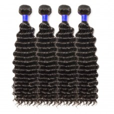 4 Bundles Deep Curly 6A Virgin Peruvian Hair 400g