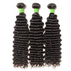 3 Bundles Deep Curly 7A Virgin Brazilian Hair 300g