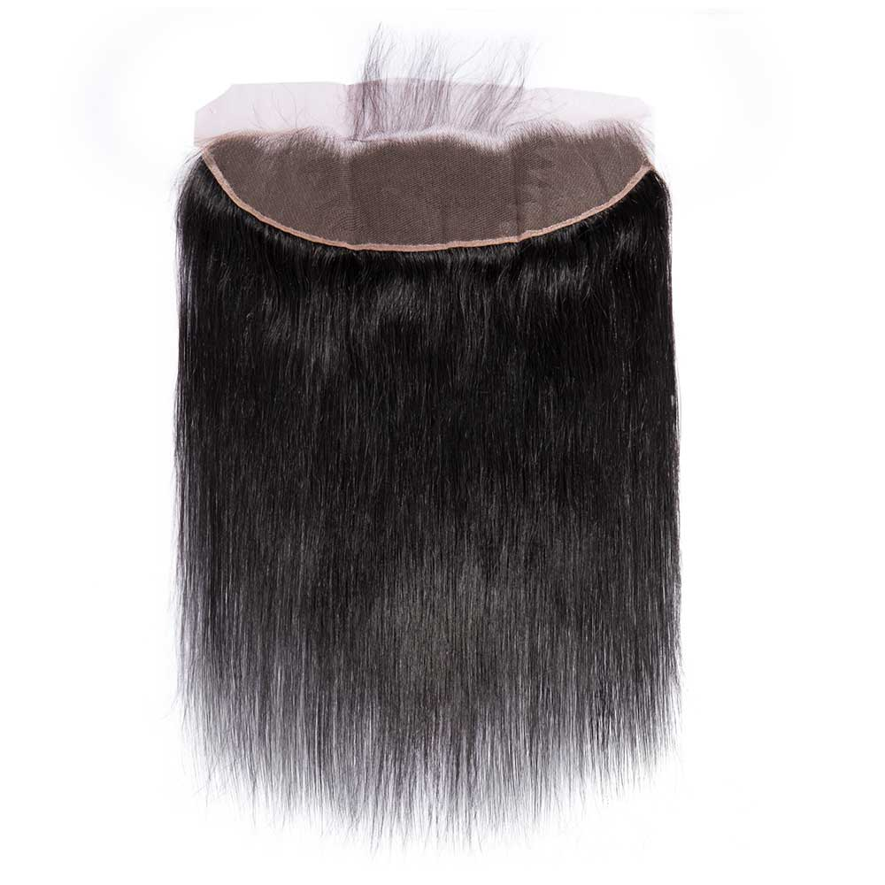 "10""-18"" Virgin Brazilian Hair Straight 13*4 Free Part Lace Frontal Closure"