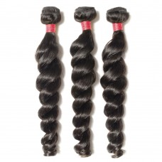 3 Bundles Loose Wavy 6A Virgin Malaysian Hair 300g