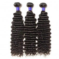 3 Bundles Deep Curly 6A Virgin Peruvian Hair 300g