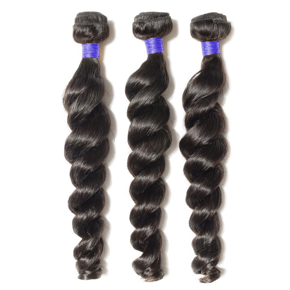 3 Bundles Loose Wavy 6A Virgin Peruvian Hair 300g