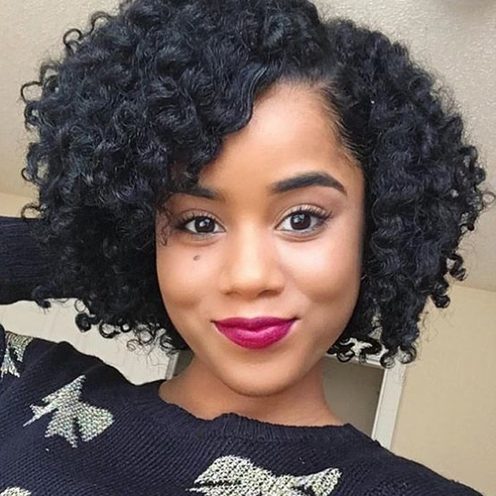 10 Inch Deep Curly Brazilian Virgin Lace Front Wigs 150g