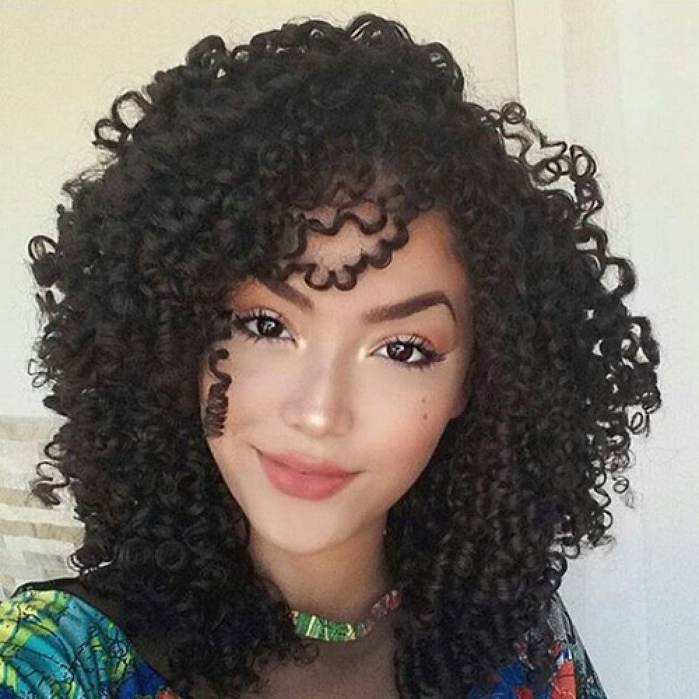 12 Inch Deep Curly Brazilian Virgin Lace Front Wigs 160g
