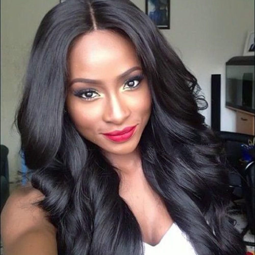 10-22 Inch Loose Wavy Brazilian Virgin Lace Front Wigs