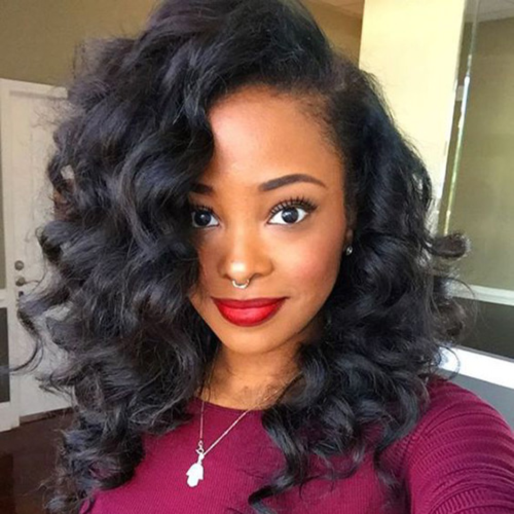Lace Front Synthetic Hair Wig TWS01 Curly